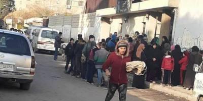 Şam'da ekmek kuyruğunda 7 saat