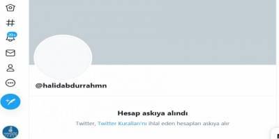 Twitter gerekçesiz bir şekilde Halid Abdurrahman'ın hesabını askıya aldı!