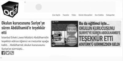 II. Abdülhamid-M. Kemal Atatürk ikileminden kurtulamayan Oda TV!