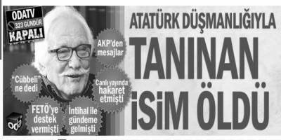 """Oda TV """"Atatürk'e müteşekkir değilim"""" dediği için Yavuz Bahadıroğlu'nu hedef aldı!"""