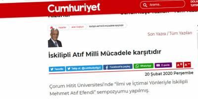 Yalan söyleyen tarih utanır ama Kemalistler hem utanmazlar hem de usanmazlar!