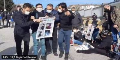 Çin zulmünü protestoya polis engeli!