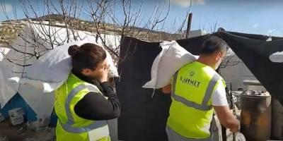 Rahmet Yardım'ın Suriye'deki kamplara kış yardımı devam ediyor