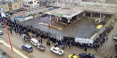 Rakka'da ekonomik kriz ve mazot kuyruğu
