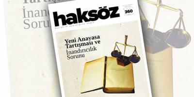 Haksöz dergisinin Mart 2021 sayısı çıktı