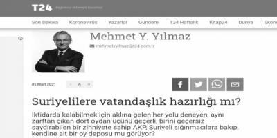 Mehmet Yılmaz'ın 'mültecilere vatandaşlık mı verilecek?' korkusu!