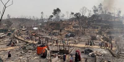 Bangladeş'te Arakanlı Müslümanların kaldığı kampta yangın