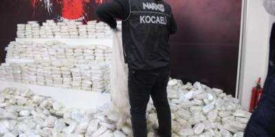 Kocaeli'de yük gemisinde 3 ton 860 kilogram esrar ele geçirildi