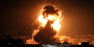 Siyonist İsrail savaş uçaklarıyla Gazze'yi vurdu
