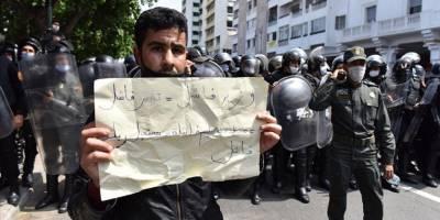 Fas'ta sözleşmeli öğretmenlerin gösterisine olaylı müdahale