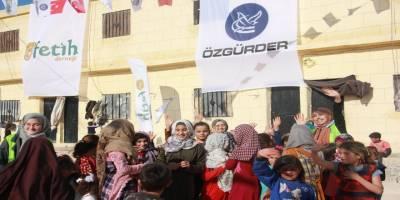 İdlib'te yetimler yalnız kalmadı