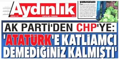 Aydınlık gazetesi AK Parti üzerinden CHP'ye nota veriyor!