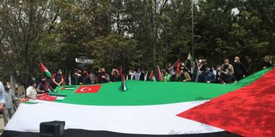 Siyonist İsrail'in Mescid-i Aksa saldırısı Ankara'da protesto edildi