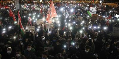 Siyonist İsrail Konsolosluğu önünde Mescid-i Aksa saldırısı protesto edildi