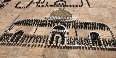 İşgalcilerin sıktığı plastik mermilerle Kubbetu's Sahra sureti yapıldı