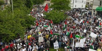 ABD'de Siyonist İsrail'e karşı protestolar devam etti