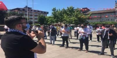 Bartın'da Müslüman öğrenciler haykırdı: 'Katil İsrail Mescidi Aksa'dan ve Filistin'den defol!'