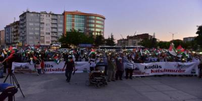Elazığ'da Filistin'e destek eylemi!