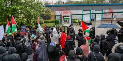 Filistin yanlısı eylemciler fabrikayı bastı, SİHA üretimi durdu