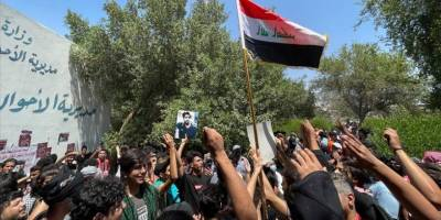 Bağdat'ta ABD ve İran protesto edildi