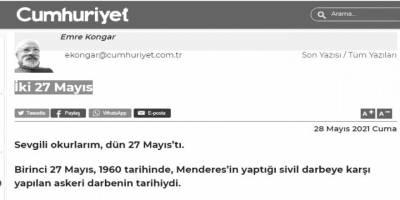 27 Mayıs ve sol-Kemalistlerin müzmin darbe severliği!