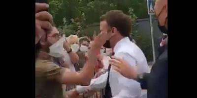 Fransa'da Macron'a tokatlı saldırı