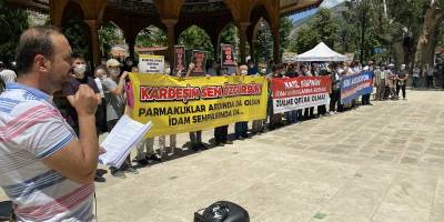 Sisi cuntasının idam kararları Amasya'da protesto edildi