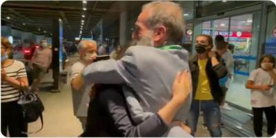 Esed rejiminin ayırdığı baba ile kız 12 yıl sonra bir araya geldi!