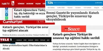 'Katarlı öğrenciler Türkiye'de sınavsız tıp okuyacak' yalanı nasıl yayıldı?