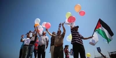 Gazzeliler Siyonist İsrail'in Filistinli balıkçılara yönelik hak ihlallerini protesto etti