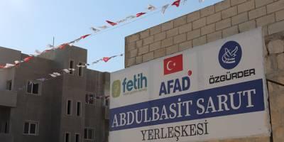 İdlib'de inşası tamamlanan Abdulbasit Sarut Yerleşkesi açıldı