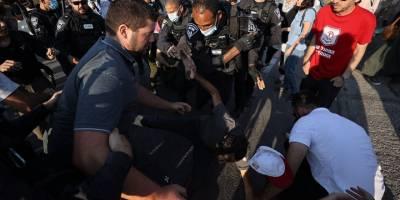 İşgal güçleri Şeyh Cerrah Mahallesi'ndeki gösteriye müdahale etti