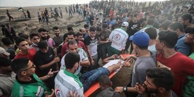 Gazze sınırındaki gösterilerde 41 Filistinli ile 1 Siyonist asker yaralandı