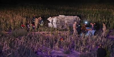 Van'da göçmenleri taşıyan araç kaza yaptı: 1 ölü, 15 yaralı