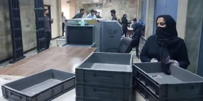 Kabil havalimanında kadın personel işlerine döndü