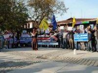 Bursada Füze Kalkanı Projesi Protesto Edildi