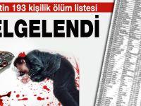 Devletin 193 Kişilik Ölüm Listesi Belgelendi