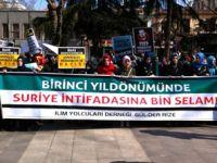Trabzonda Katil Baas Rejimi Protesto Edildi