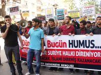 Gençlerden Suriye Halkına Destek Eylemi