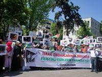 Aksa Tutsaklarına İstanbul'da Destek Eylemi