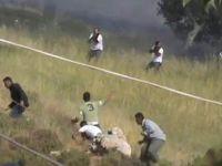 İsrailli Yerleşimciler Filistinlileri Böyle Vuruyor