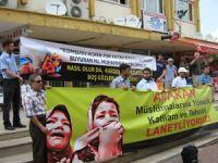 Ispartada Suriye ve Arakan İçin Protesto Eylemi