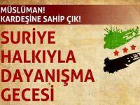 Edirne'de Suriye Gecesine Davet