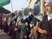 İzmirde İsrail Protestosu Düzenlendi