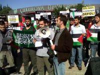 Çukurova Üniv.'nde Gazze ve Suriye Eylemi