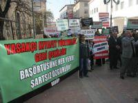 Yasakçı Genelge Vanda Protesto Edildi