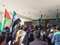 Gazze'de Yermuk Kampı Protestosu