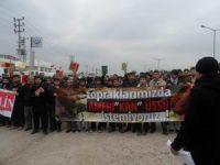 ABD Konsolosluğu Önünde Kuranlı Protesto