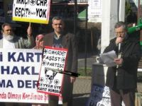 Ayman Güler ve CHP'ye İzmit'te Protesto