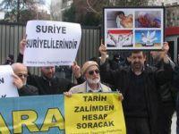 Rusya'ya Suriye Protestosu